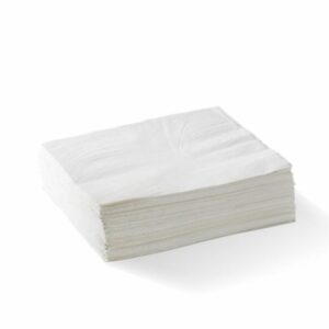 1/4 Fold White Lunch Napkin 2 Ply
